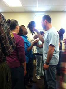 Laying on of hands, prayer of faith, healing and miracles