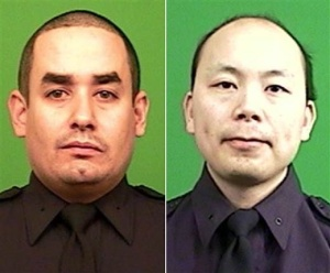 Raphael Ramos and Wenjian Liu, slain NYPD officers. Rest in peace, and prayers to their families. Via NBC News